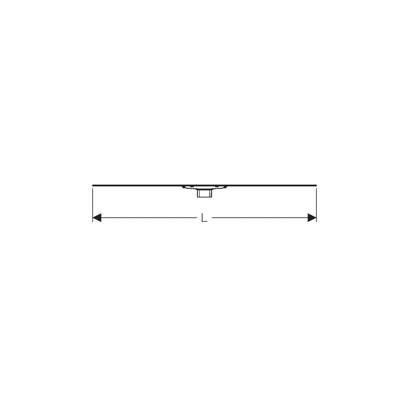 Geberit Shower Channel CleanLine60 90cm Thin for Customisation