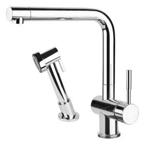 Gessi Oxygen Kitchen Sink Mixer 16556 Brushed Nickel