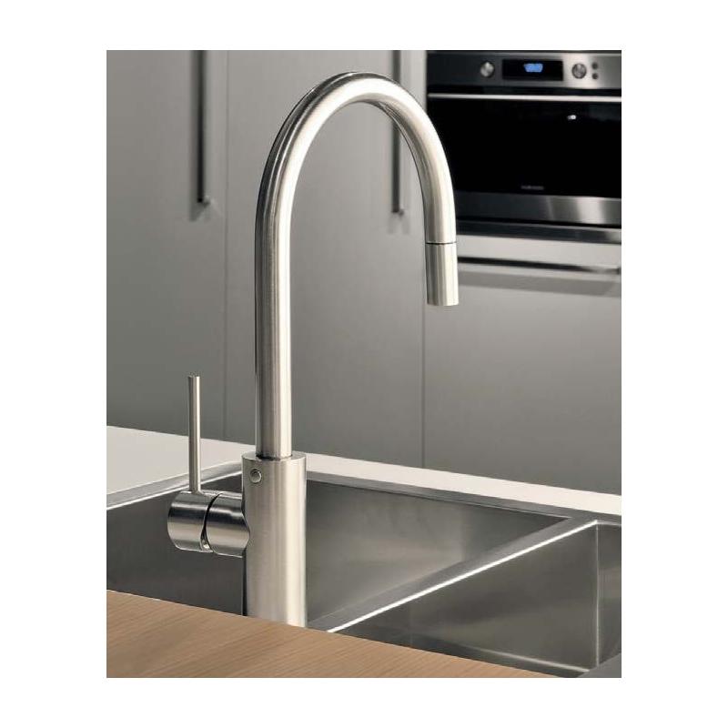 Gessi Oxygen Kitchen Sink Mixer 20573 Brushed Nickel