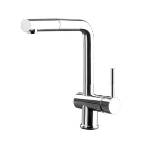 Gessi Oxygen Mono Sink Mixer with Pull-Out Brushed Nickel