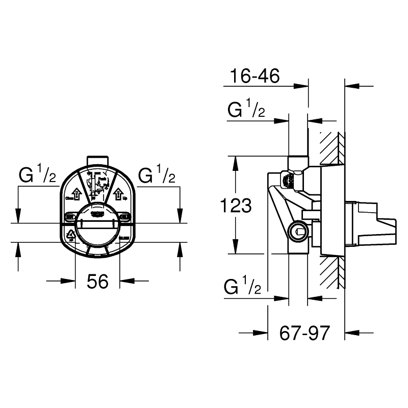 Grohe Single-Lever Mixer Concealed Body 33963