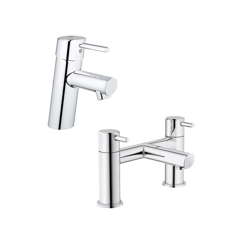 Grohe Concetto Basin Mixer & Bath Filler Pack