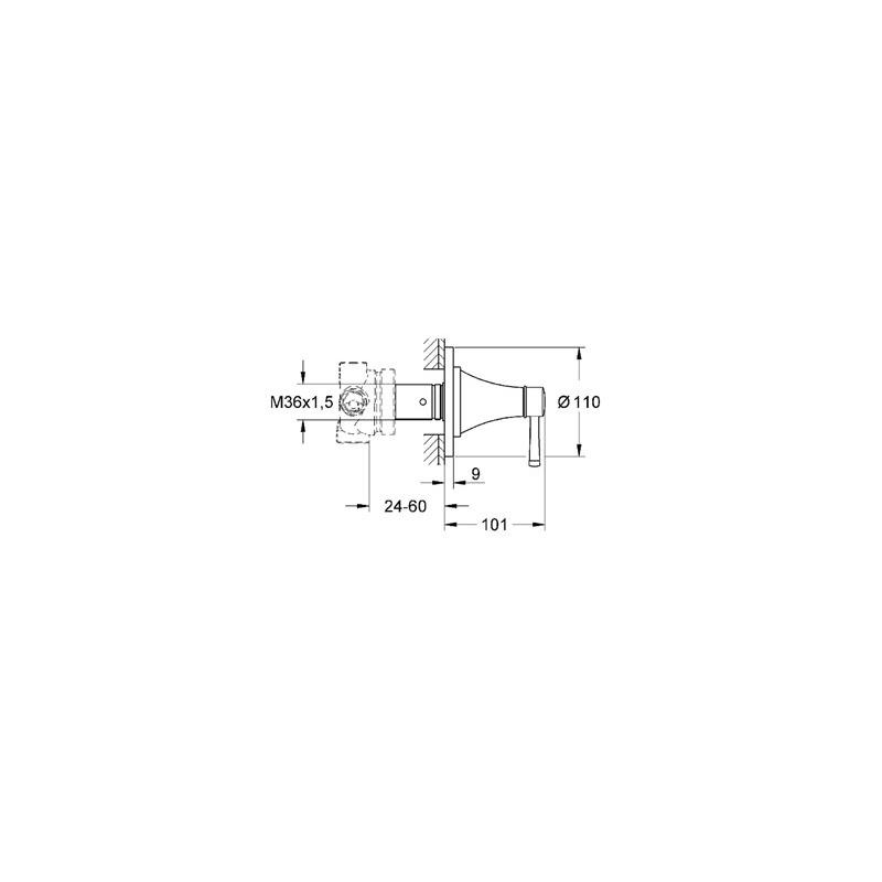Grohe Grandera 5-Way Diverter 19942 Chrome/Gold