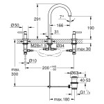 Grohe Atrio 3 Hole Basin Mixer M-Size 20009