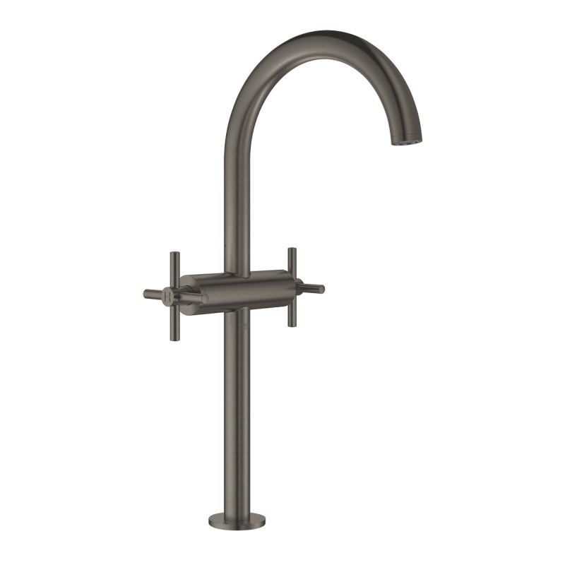 Grohe Atrio Cross Handle Basin Mixer XL-Size 21044 Brushed Graphite