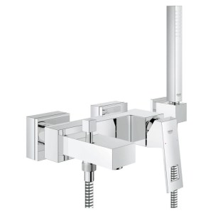 "Grohe Eurocube Wall Mounted Bath/Shower Mixer & Kit 1/2"" 23141"