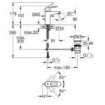 Grohe BauLoop Basin Mixer S-Size 23335