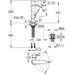Grohe Plus Basin Mixer L-Size 23873