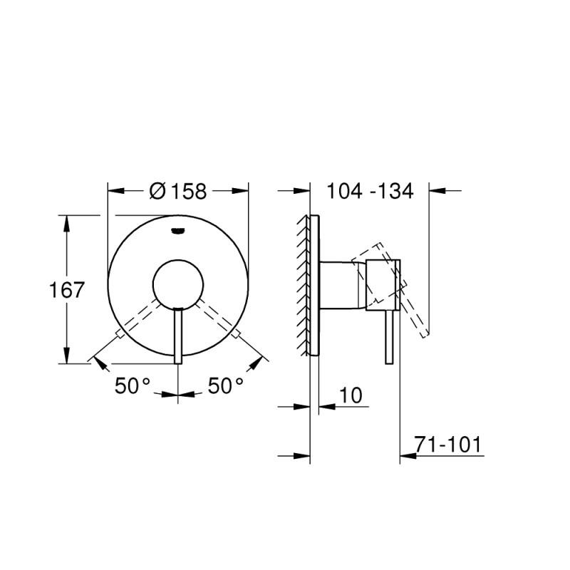 Grohe Atrio Shower Mixer Trim 24065