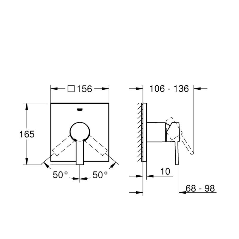 Grohe Allure Shower Mixer Trim 24069