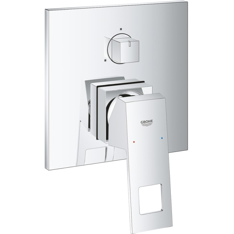 Grohe Eurocube Single-Lever Mixer Trim with 3-Way Diverter 24094