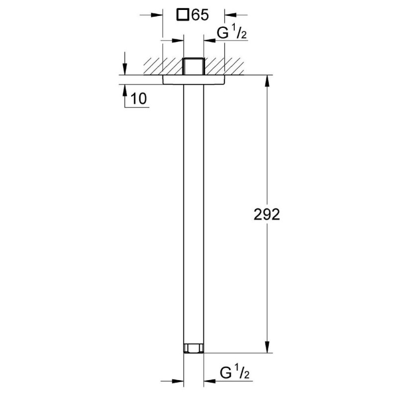 Grohe Rainshower Shower Ceiling Arm 292mm 27484