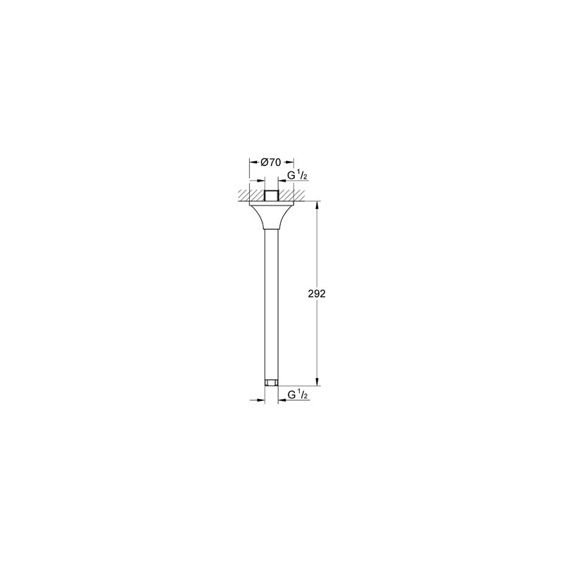Grohe Rainshower Grandera Shower Ceiling Arm 292mm 27982 Chrome/