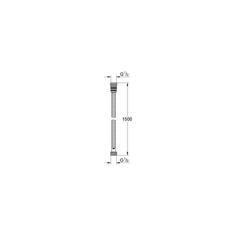 Grohe Rotaflex Shower Hose 1500mm 28417