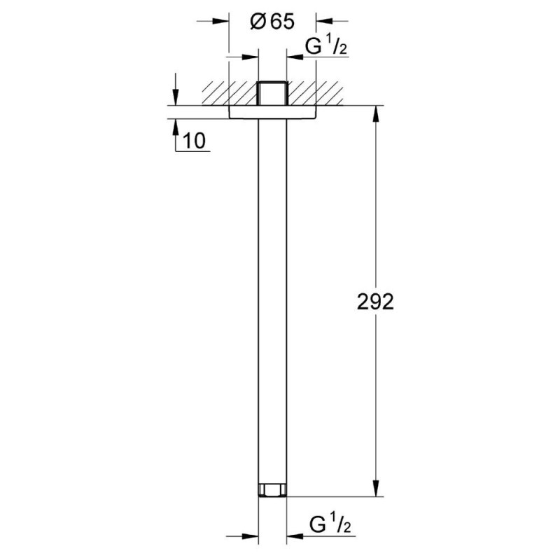 Grohe Ondus Shower Ceiling Arm 292mm 28497