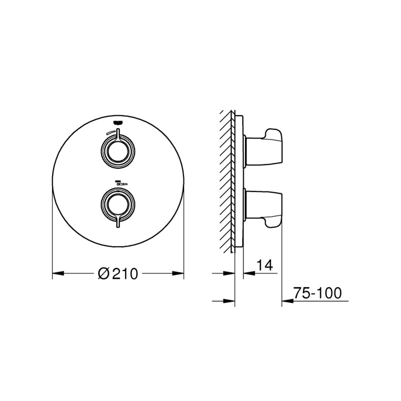 Grohe Grohtherm Special Thermostatic Shower Mixer 29094