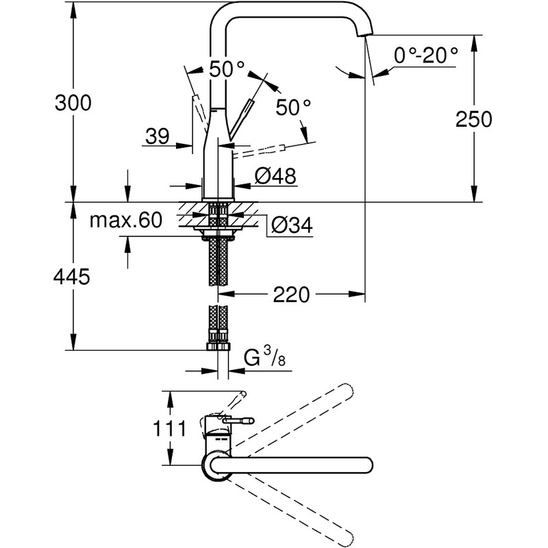 Grohe Essence Kitchen Sink Mixer Tap 30269 Warm Sunset