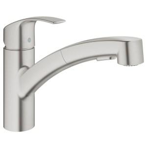 """Grohe Eurosmart Sink Mixer 1/2"""" 30305 Supersteel"""
