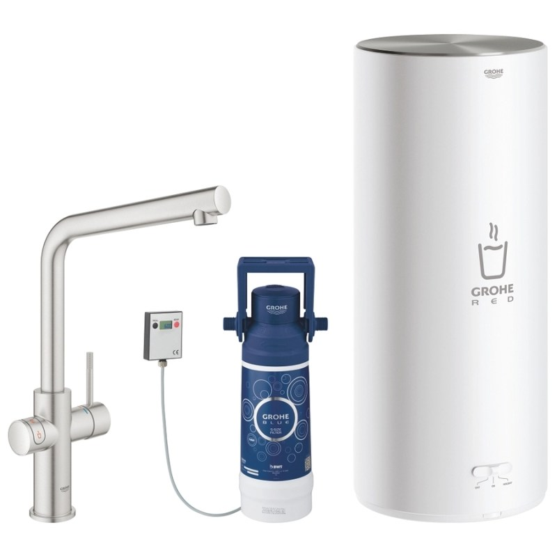 Grohe Red Duo Tap & L Size Boiler 30340 Supersteel