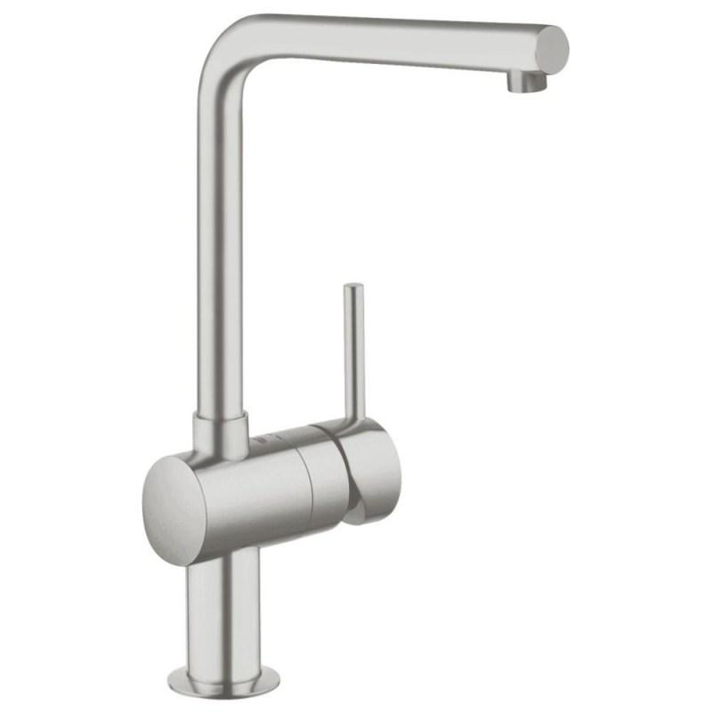 "Grohe Minta Single-Lever Mono Sink Mixer 1/2"" 31375 Supersteel"