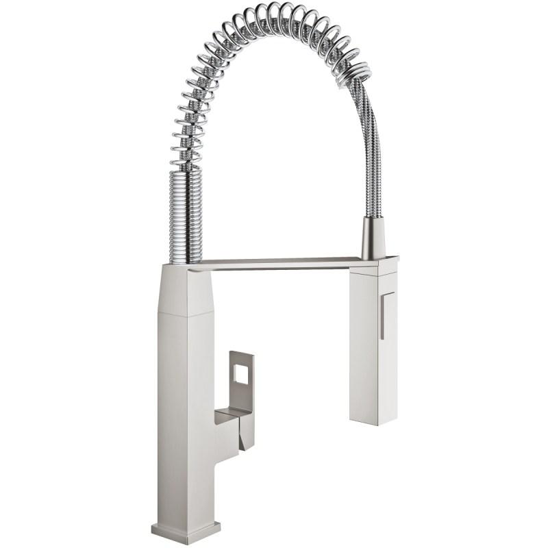 Grohe Eurocube Kitchen Sink Mixer Tap 31395 Supersteel