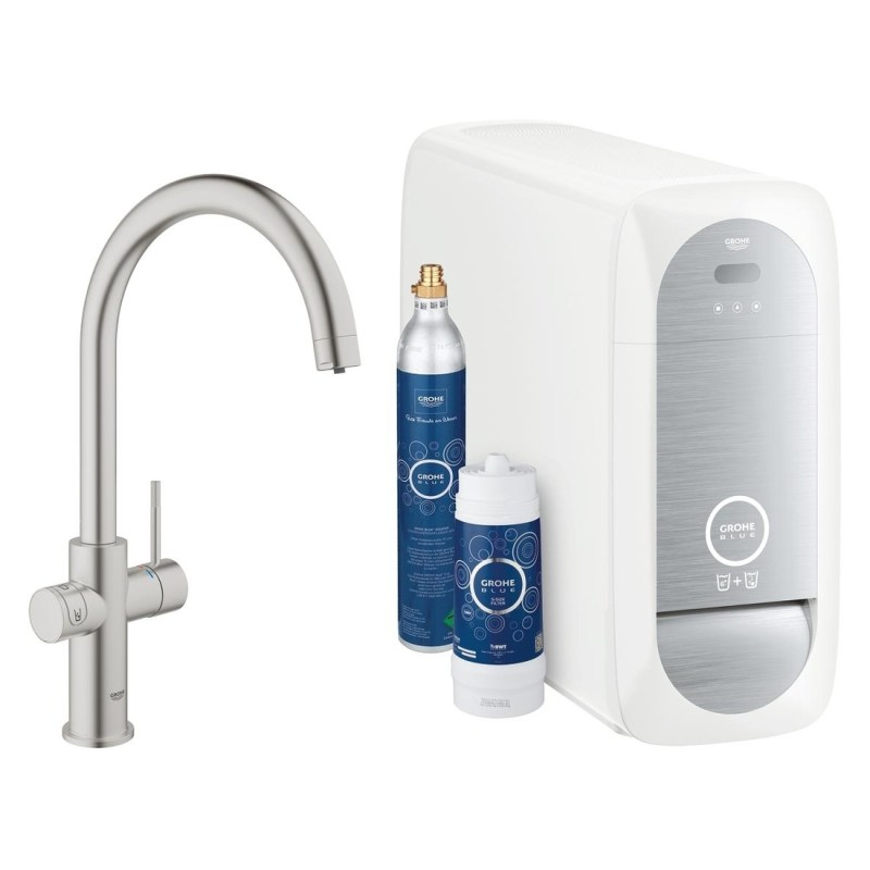 Grohe Blue Home Duo C-Spout 31455 Supersteel