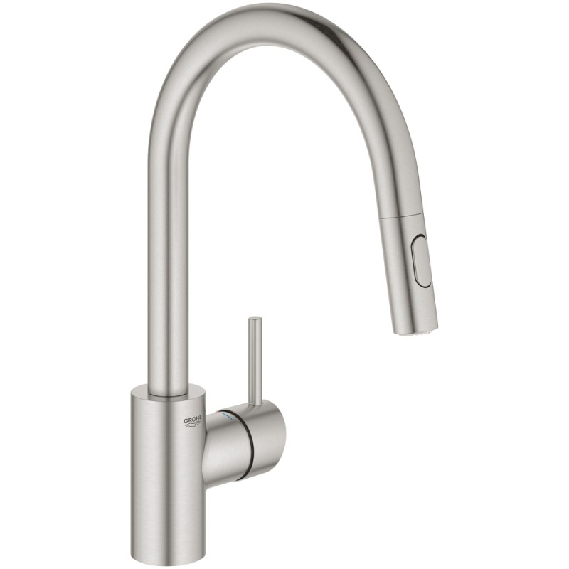 Grohe Concetto Pull Out Spout Sink Mixer 31483 Supersteel