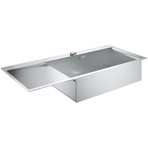 Grohe K1000 1 Bowl Stainless Steel Sink with Drainer Right 31582