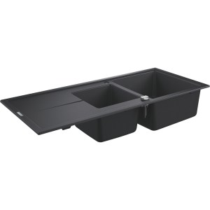 Grohe K400 80-C 116/50 1.5 Rev Sink with Drainer 31643 Black