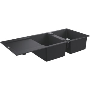 Grohe K500 80-C 116/50 2.0 Rev Sink with Drainer 31647 Black