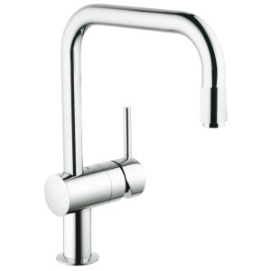 """Grohe Minta Sink Mixer with Pull Out Spout 1/2"""" 32067 Chrome"""