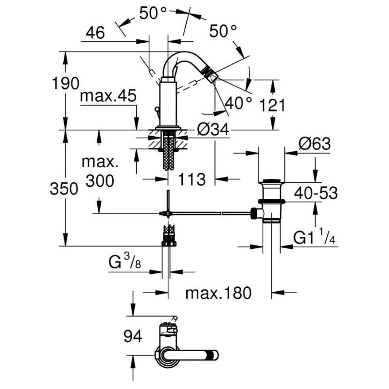 "Grohe Atrio Bidet Mixer 1/2"" Medium 32108"