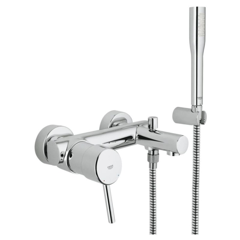 """Grohe Concetto Wall Mounted Bath/Shower Mixer & Kit 1/2"""" 32212"""