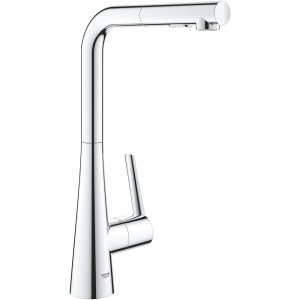 Grohe Zedra L-Spout Sink Mixer with Pull Out Spray 32553