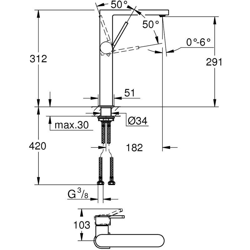 Grohe Plus Basin Mixer XL-Size 32618