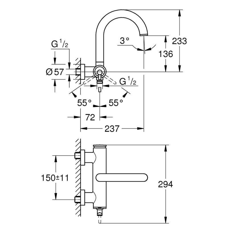 Grohe Atrio Single-Lever Bath Mixer 32652