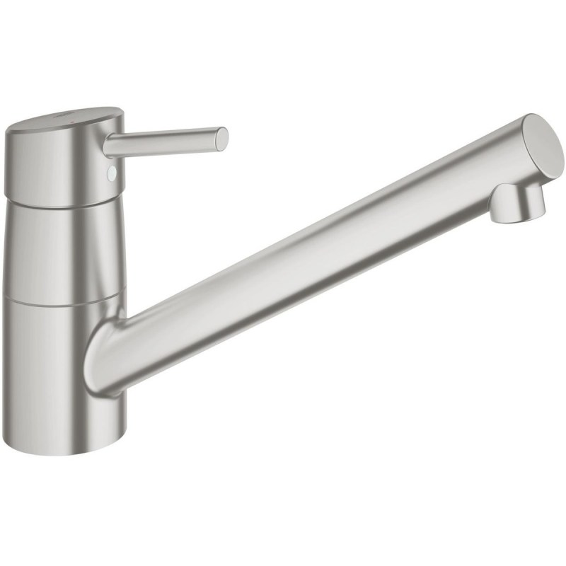 """Grohe Concetto Low Spout Sink Mixer 1/2"""" 32659 Supersteel"""