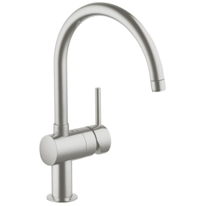 """Grohe Minta Mono Sink Mixer 1/2"""" 32917 Supersteel"""