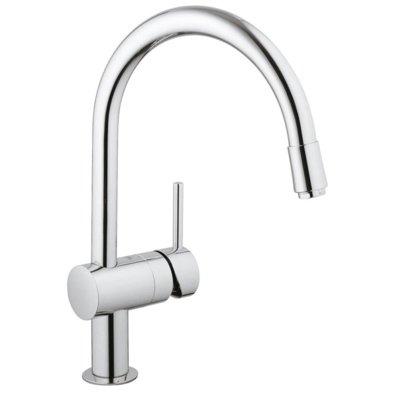 """Grohe Minta Sink Mixer with Pull Out Spout 1/2"""" 32918 Chrome"""