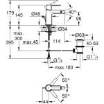 Grohe Lineare Bidet Mixer Tap S-Size 33848 Supersteel