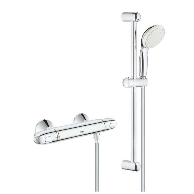 Grohe Grohtherm 1000 Thermostatic Shower Mixer with Kit 34151