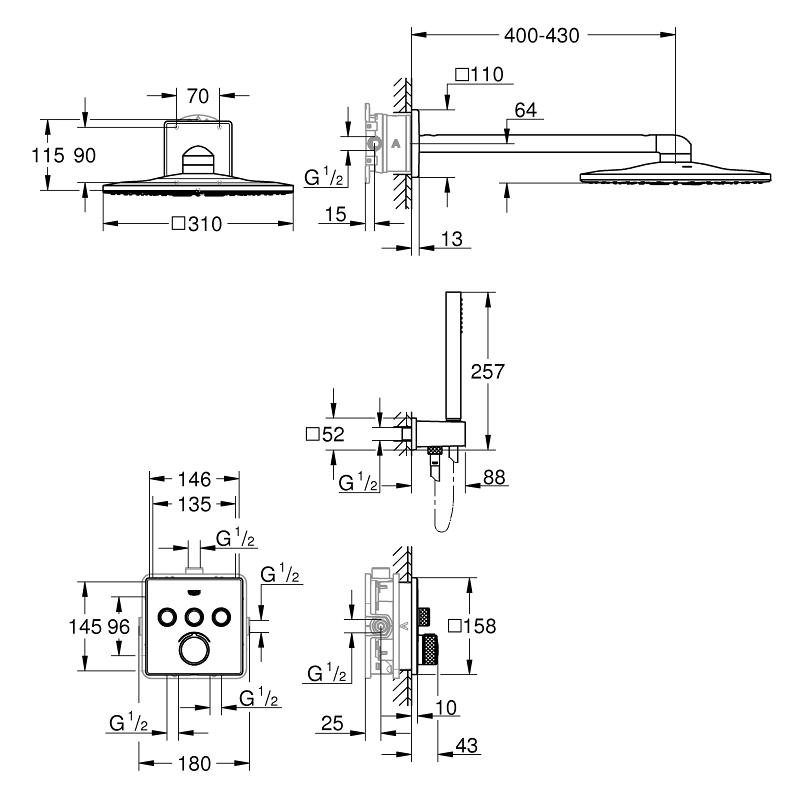 Grohe Smartcontrol Perfect Shower Set 34712 Chrome