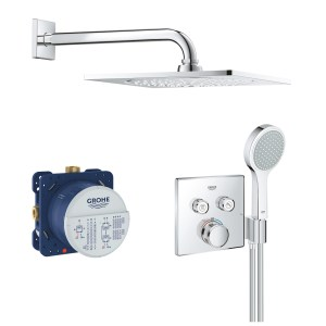 Grohe Grohtherm SmartControl Square Mixer Bundle 34742