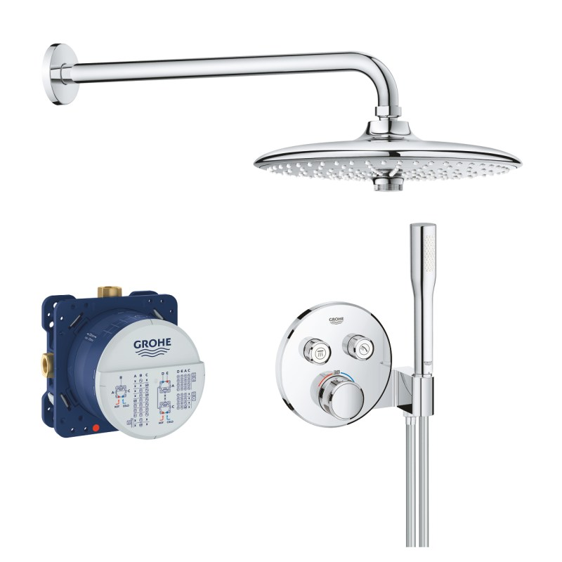 Grohe Grohtherm SmartControl Mixer Bundle Round 34744