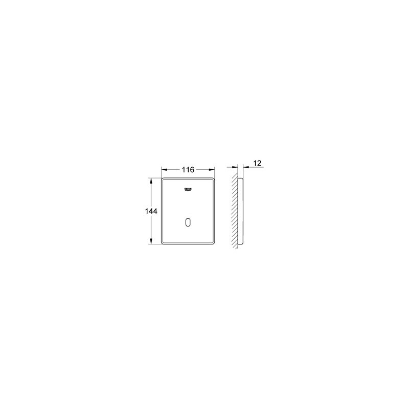 Grohe Tectron Skate Infra-Red for Urinal 37324 Chrome