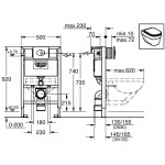 Grohe Rapid SL Skate Air 3 in 1 Set for WC 0.82m 38761