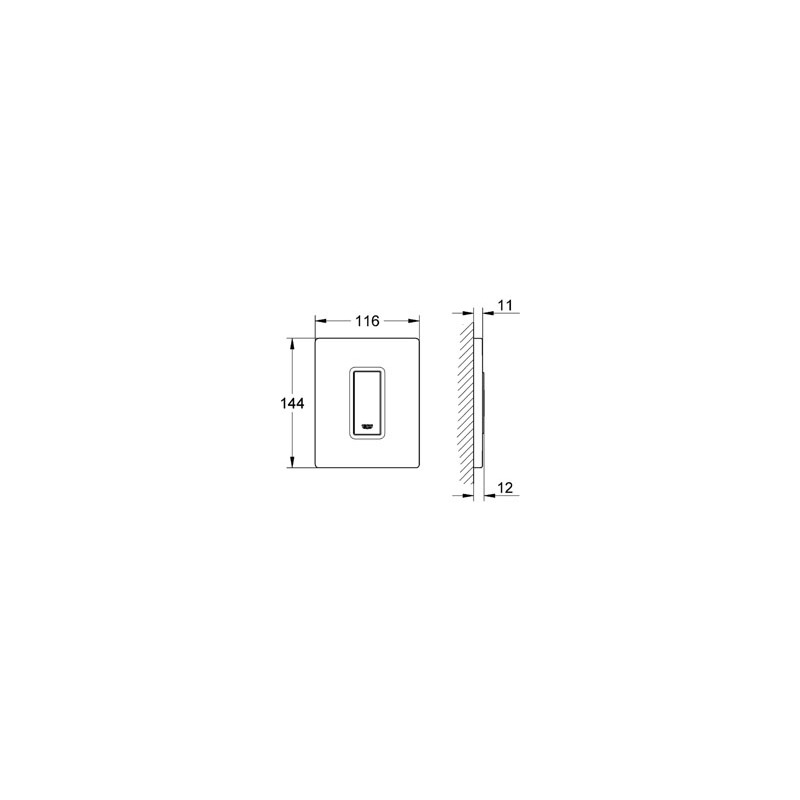 Grohe Skate Cosmopolitan Urinal Actuation Plate 38784