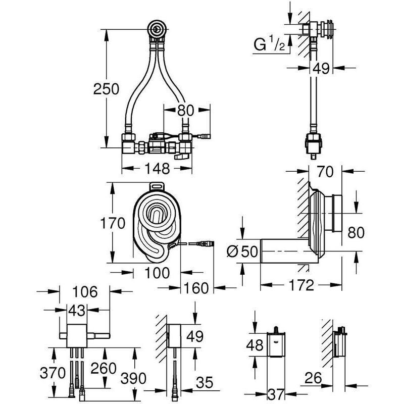 Grohe Urinal Temperature Sensor 39367