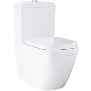 Grohe Euro Ceramic Close Coupled Toilet Pack with Soft Close Seat 39462