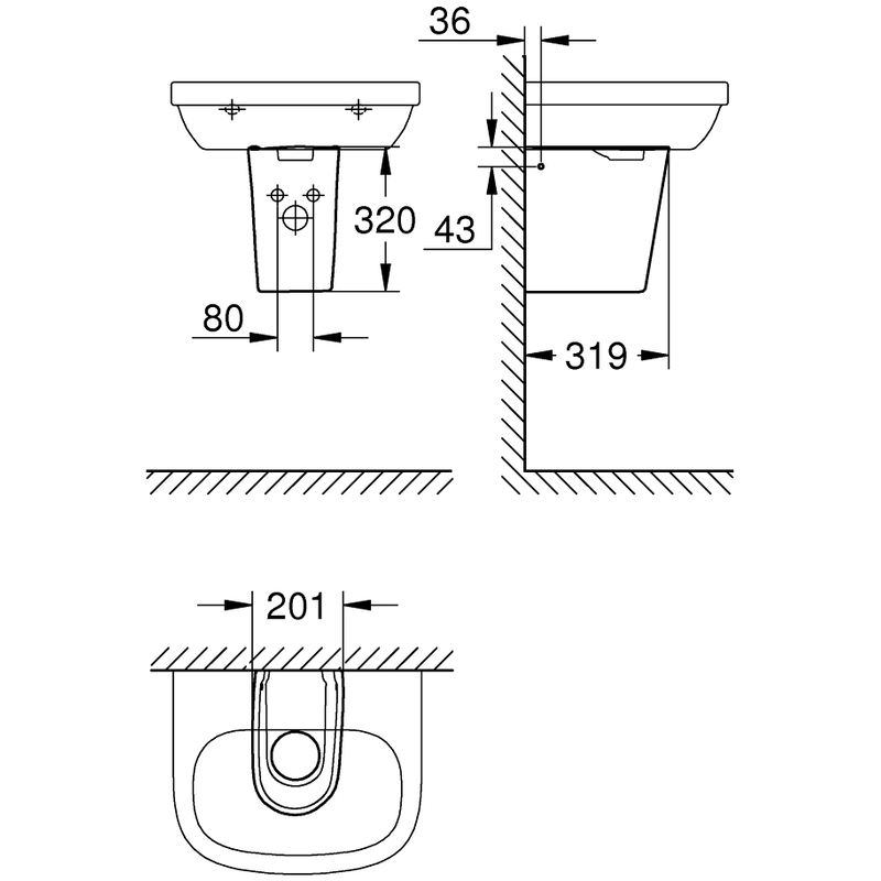 Grohe Essence Half Pedestal 39570